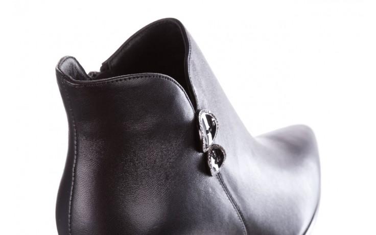Botki sca'viola f-173 black leather, czarny, skóra naturalna - skórzane - botki - buty damskie - kobieta 6
