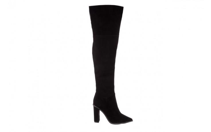 Kozaki sca'viola e-19 black suede, czarny, skóra naturalna - kozaki - buty damskie - kobieta
