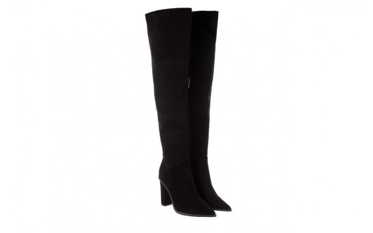 Kozaki sca'viola e-19 black suede, czarny, skóra naturalna - kozaki - buty damskie - kobieta 1
