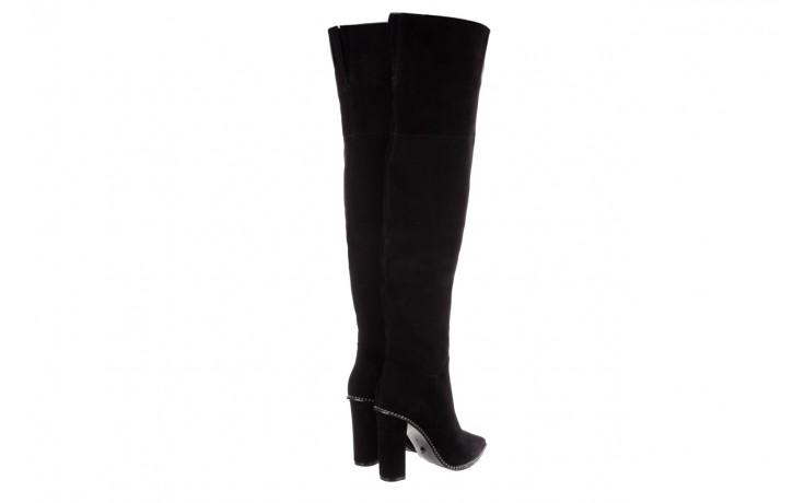 Kozaki sca'viola e-19 black suede, czarny, skóra naturalna - kozaki - buty damskie - kobieta 4