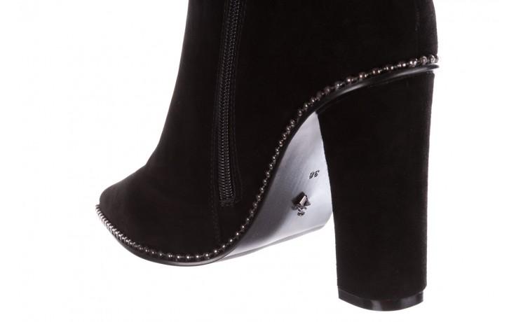 Kozaki sca'viola e-19 black suede, czarny, skóra naturalna - kozaki - buty damskie - kobieta 10