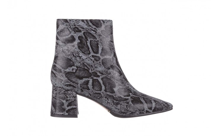 Botki bayla-188 006 jaszczurka szary, skóra naturalna - worker boots - trendy - kobieta