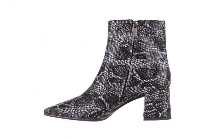 Botki bayla-188 006 jaszczurka szary, skóra naturalna - worker boots - trendy - kobieta 3