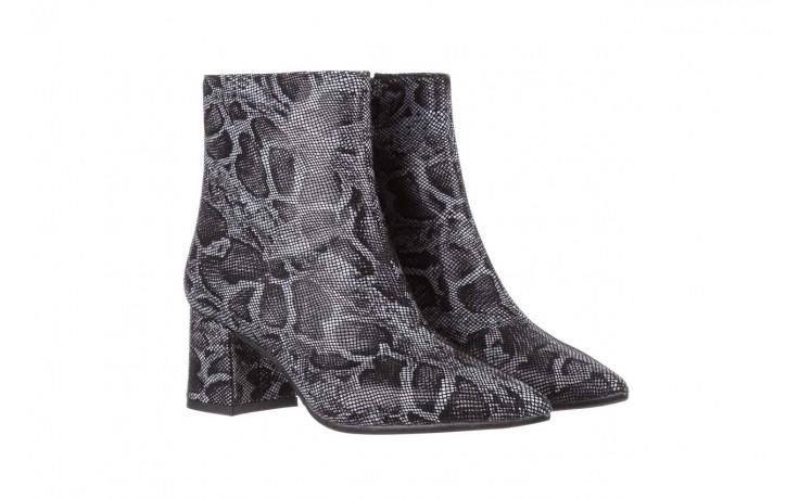 Botki bayla-188 006 jaszczurka szary, skóra naturalna - worker boots - trendy - kobieta 1