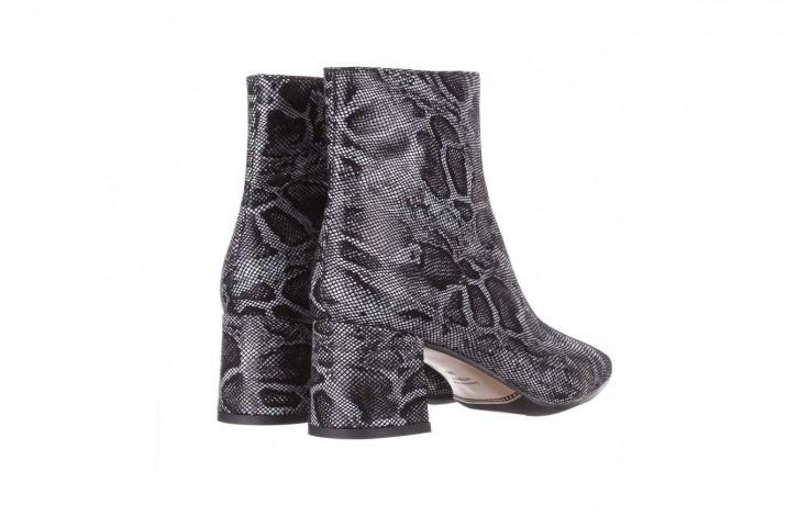 Botki bayla-188 006 jaszczurka szary, skóra naturalna - worker boots - trendy - kobieta 4