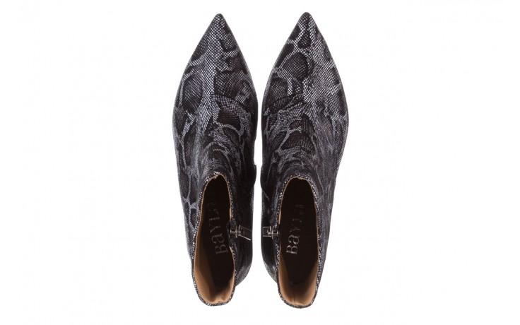Botki bayla-188 006 jaszczurka szary, skóra naturalna - worker boots - trendy - kobieta 5