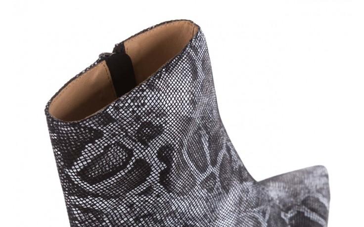 Botki bayla-188 006 jaszczurka szary, skóra naturalna - worker boots - trendy - kobieta 6