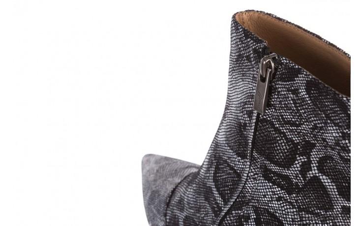 Botki bayla-188 006 jaszczurka szary, skóra naturalna - worker boots - trendy - kobieta 8