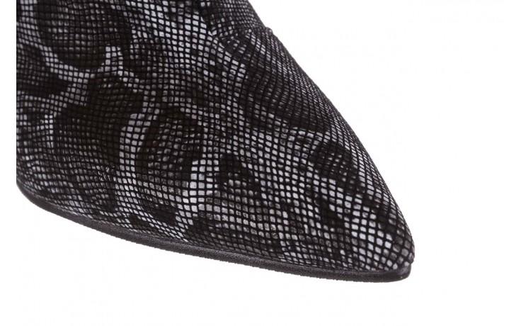 Botki bayla-188 006 jaszczurka szary, skóra naturalna - worker boots - trendy - kobieta 7