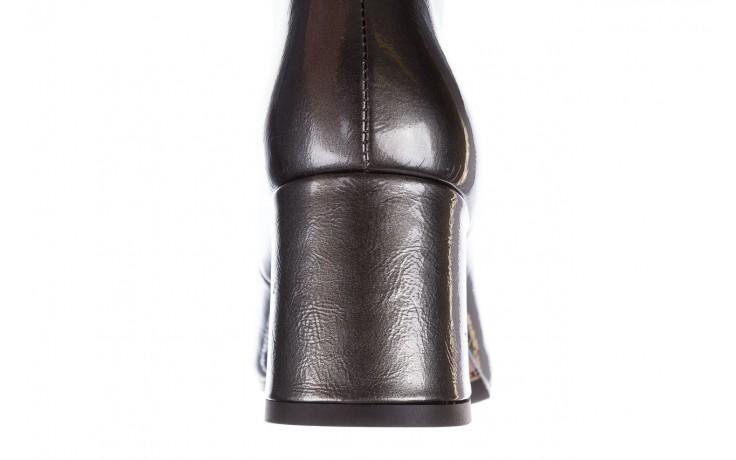 Botki bayla-188 031 szary, skóra naturalna lakierowana 8