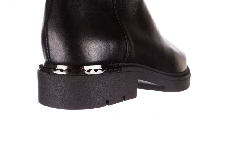 Kozaki bayla-188 020 czarny, skóra naturalna - płaskie - kozaki - buty damskie - kobieta 10