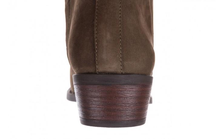 Botki bayla-161 061-2004 khaki, zielony, skóra naturalna  - skórzane - botki - buty damskie - kobieta 8