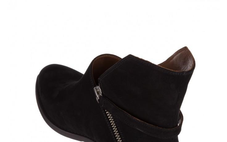 Botki bayla-161 061-2005 black nubuck, czarny, skóra naturalna  - skórzane - botki - buty damskie - kobieta 7