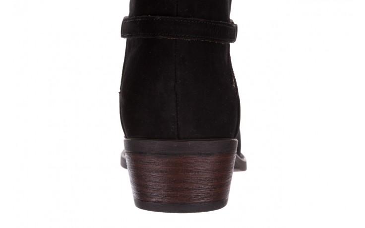 Botki bayla-161 061-2005 black nubuck, czarny, skóra naturalna  - skórzane - botki - buty damskie - kobieta 8