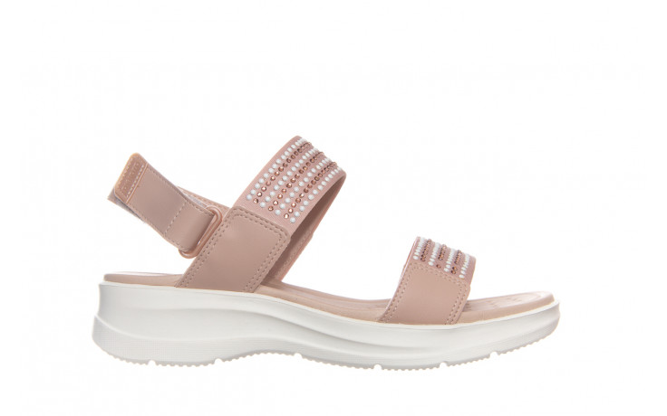 Sandały azaleia 330 561 tan, beż, skóra ekologiczna  - płaskie - sandały - buty damskie - kobieta
