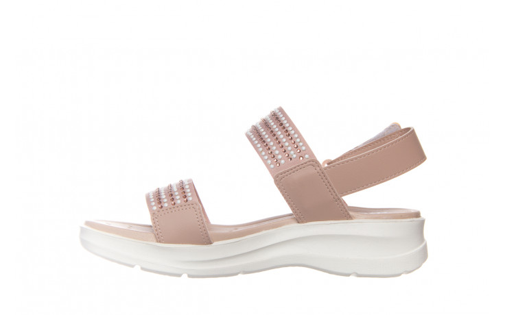 Sandały azaleia 330 561 tan, beż, skóra ekologiczna  - płaskie - sandały - buty damskie - kobieta 1