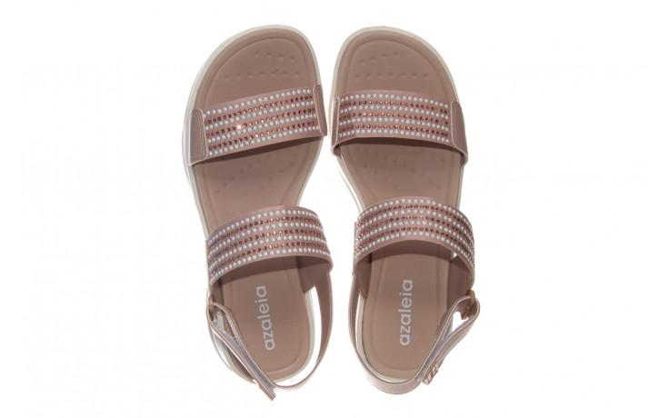 Sandały azaleia 330 561 tan, beż, skóra ekologiczna  - płaskie - sandały - buty damskie - kobieta 3