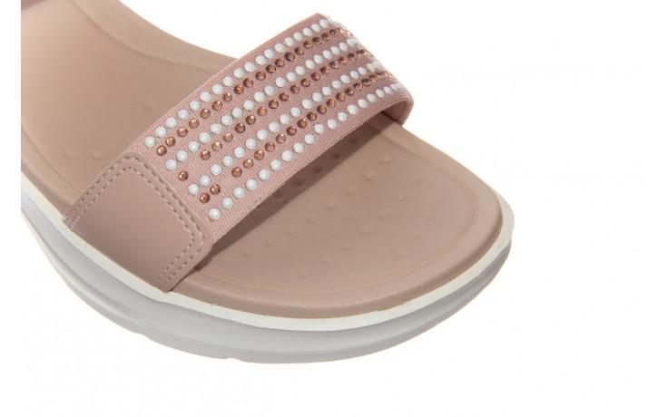 Sandały azaleia 330 561 tan, beż, skóra ekologiczna  - płaskie - sandały - buty damskie - kobieta 5