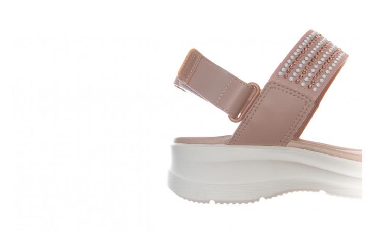 Sandały azaleia 330 561 tan, beż, skóra ekologiczna  - płaskie - sandały - buty damskie - kobieta 4