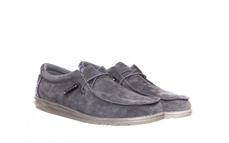 Półbuty heydude wally suede grey 003189, szary, skóra naturalna  - trendy - mężczyzna 1