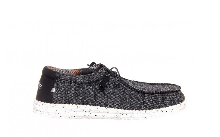 Półbuty heydude wally sox black white 003183, czarny/ biały, materiał  - trendy - mężczyzna