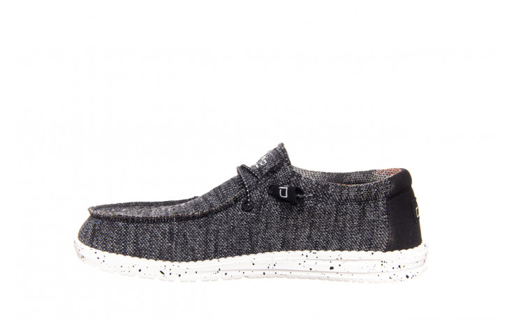 Półbuty heydude wally sox black white 003183, czarny/ biały, materiał  - trendy - mężczyzna 2