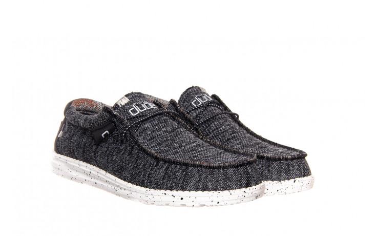 Półbuty heydude wally sox black white 003183, czarny/ biały, materiał  - trendy - mężczyzna 1