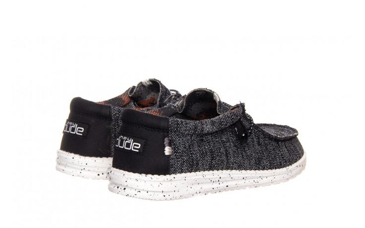 Półbuty heydude wally sox black white 003183, czarny/ biały, materiał  - trendy - mężczyzna 3