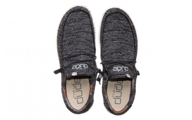 Półbuty heydude wally sox black white 003183, czarny/ biały, materiał  - trendy - mężczyzna 4