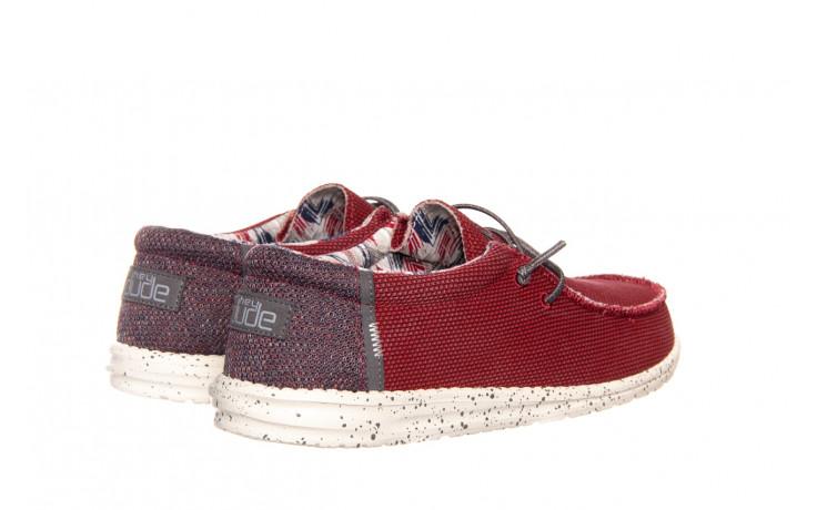 Półbuty heydude wally kite red 003185, czerwony, materiał - heydude - nasze marki 3
