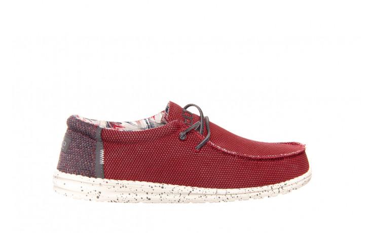 Półbuty heydude wally kite red 003185, czerwony, materiał - heydude - nasze marki