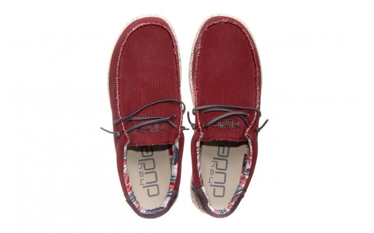 Półbuty heydude wally kite red 003185, czerwony, materiał - heydude - nasze marki 4