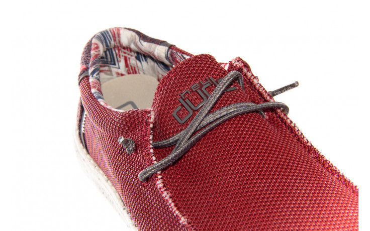 Półbuty heydude wally kite red 003185, czerwony, materiał - heydude - nasze marki 5