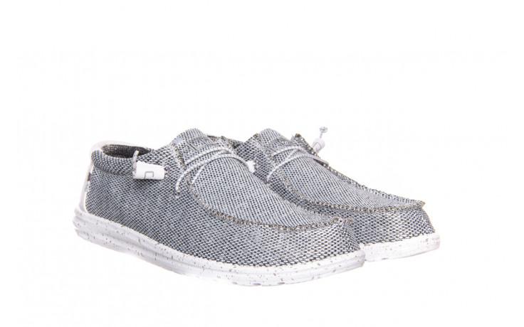 Półbuty heydude wally sox bright white 003184, biały/ czarny, materiał  - nowości 1