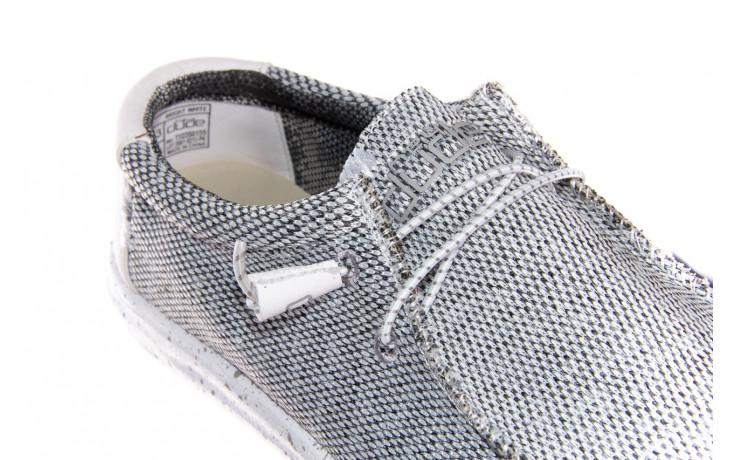 Półbuty heydude wally sox bright white 003184, biały/ czarny, materiał  - nowości 5
