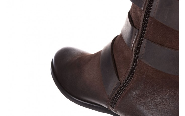 Botki bayla-161 050-09435 brown, brąz, skóra naturalna  - skórzane - botki - buty damskie - kobieta 9