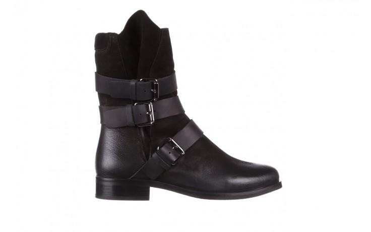 Botki bayla-161 050-09435 black, czarny, skóra naturalna  - skórzane - botki - buty damskie - kobieta