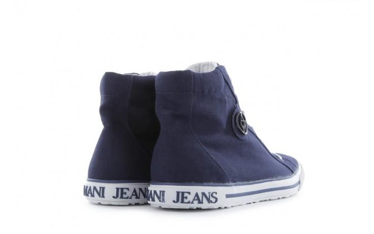 Trampki armani jeans 055a4 64 indigo, granat, materiał 3