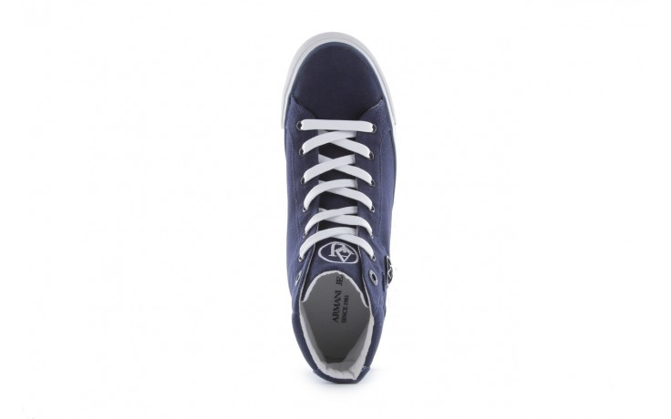 Trampki armani jeans 055a4 64 indigo, granat, materiał 4