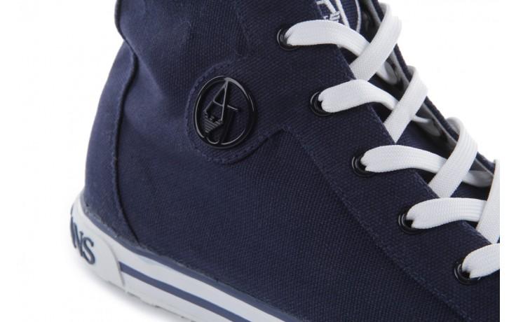 Trampki armani jeans 055a4 64 indigo, granat, materiał 5