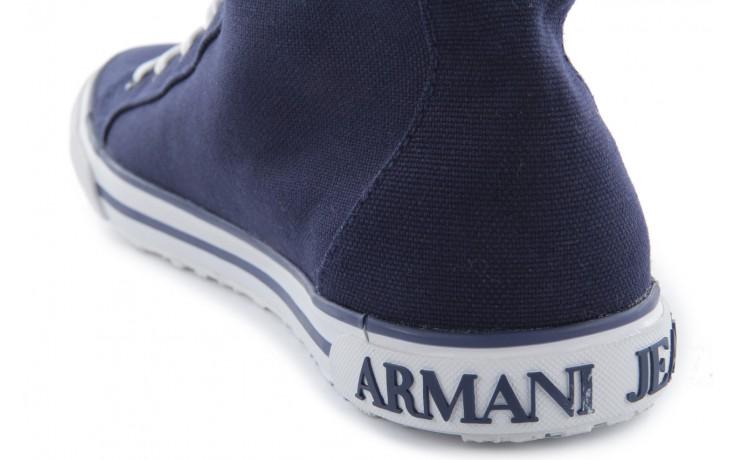 Trampki armani jeans 055a4 64 indigo, granat, materiał 7