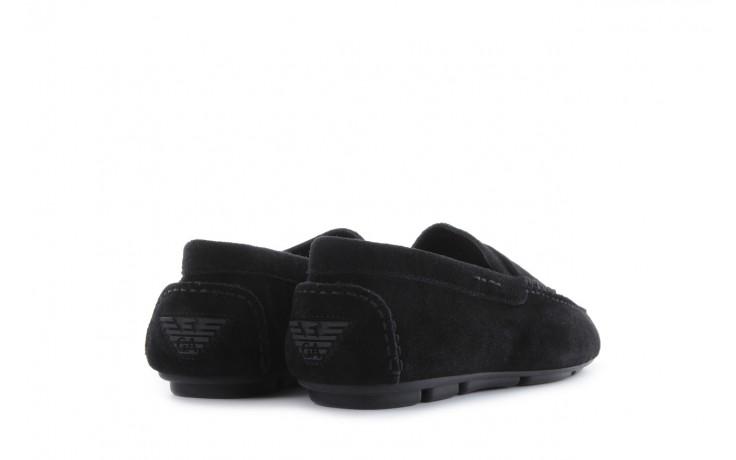 Mokasyny armani jeans 06588 55 black, czarny, skóra naturalna - armani jeans - nasze marki 3