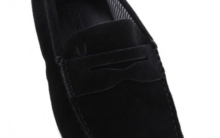 Mokasyny armani jeans 06588 55 black, czarny, skóra naturalna - armani jeans - nasze marki 5