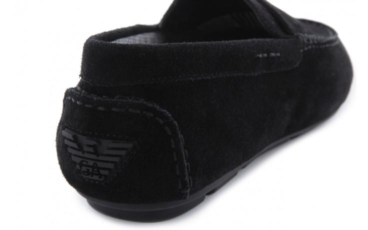 Mokasyny armani jeans 06588 55 black, czarny, skóra naturalna - armani jeans - nasze marki 6