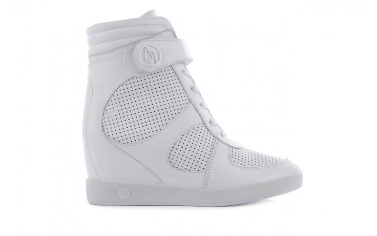 Sneakersy armani jeans a55c5 74 white, biały, skóra naturalna - armani jeans - nasze marki 1
