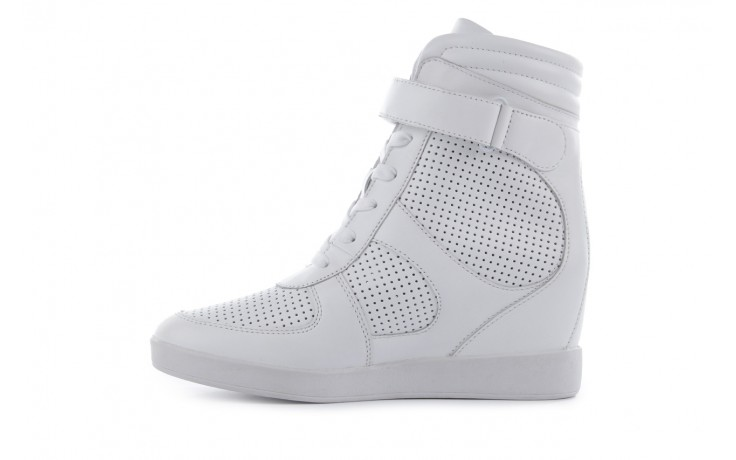 Sneakersy armani jeans a55c5 74 white, biały, skóra naturalna - armani jeans - nasze marki 2