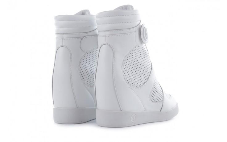 Sneakersy armani jeans a55c5 74 white, biały, skóra naturalna - armani jeans - nasze marki 3