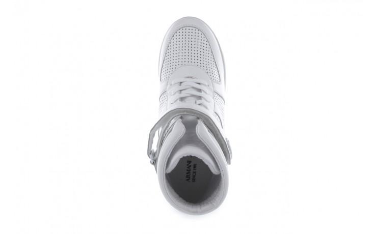 Sneakersy armani jeans a55c5 74 white, biały, skóra naturalna - armani jeans - nasze marki 4