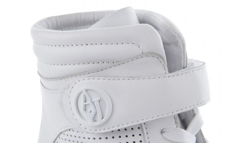 Sneakersy armani jeans a55c5 74 white, biały, skóra naturalna - armani jeans - nasze marki 5