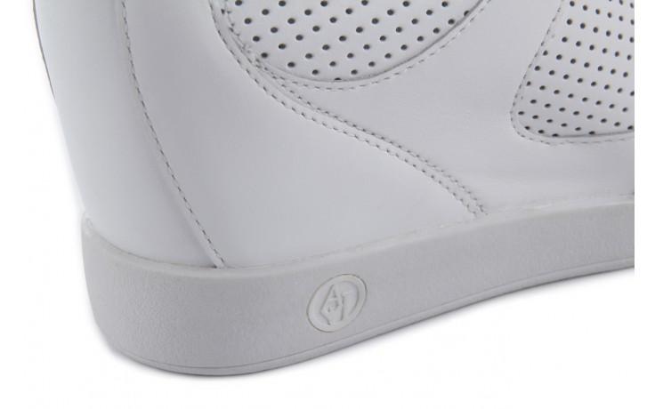 Sneakersy armani jeans a55c5 74 white, biały, skóra naturalna - armani jeans - nasze marki 7